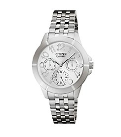 Citizen® Quartz Silvertone Women's Day Date Watch