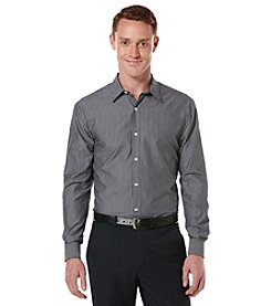 Perry Ellis® Men's Black Long Sleeve Pin Striped Buttondown Shirt
