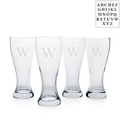 Cathy's Concepts Personalized Set of 4 Pilsner Glass Set