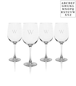 Cathy's Concepts Personalized Set of Four Stemmed White Wine Glasses
