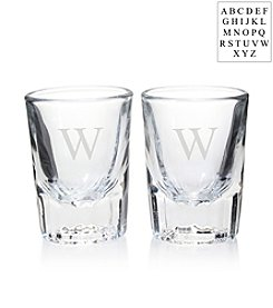 Cathy's Concepts Personalized Set of 2 Fluted Shot Glasses