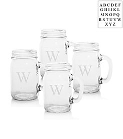 Cathy's Concepts Personalized Set of Four Mason Drinking Jars