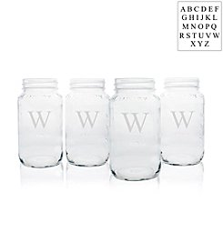 Cathy's Concepts Personalized Set of 4 Mason Jars