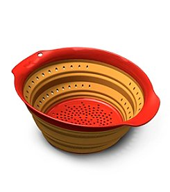 Squish 4-qt. Orange Collapsible Colander