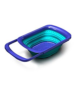 Squish Over the Sink Blue Expanding Colander