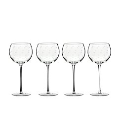 kate spade new york® Larabee Dot Set of 4 Balloon Glasses