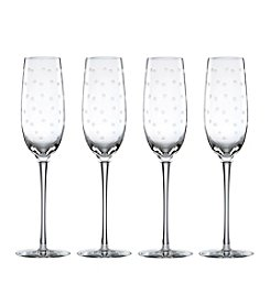 kate spade new york® Larabee Dot Set of 4 Flutes