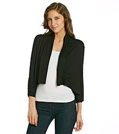 Karen Kane® Shirred Sleeve Drape Jacket