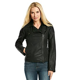 Gallery® Faux Leather Moto Jacket