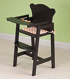 KidKraft Espresso Lil Doll High Chair