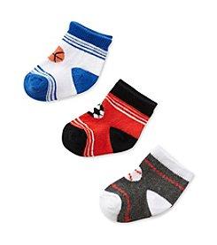 Cuddle Bear® Baby Boys' Blue 3-pk. Sport Socks