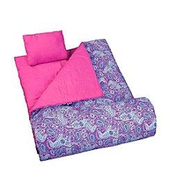 Wildkin Watercolor Purple Ponies Sleeping Bag