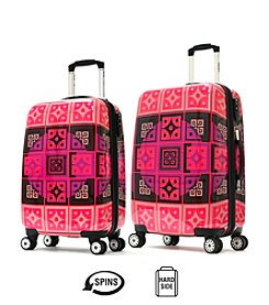 Olympia New Age Art Series Raspberry Pink Luggage Collection
