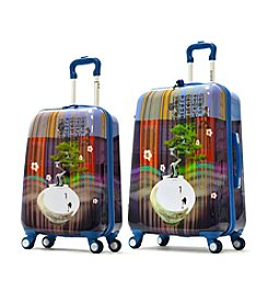 Olympia Arirang Art Series Sapphire Blue Luggage Collection
