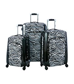 Olympia Mankato Zebra Black Printed Spinner Luggage Set