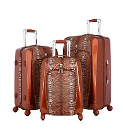 Olympia Mankato Tiger Brown Printed Spinner Luggage Set