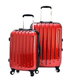 Olympia Dynasty 2-pc. Burgundy Luggage Set