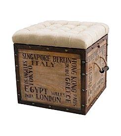 Pulaski World Travel Padded Cube Ottoman