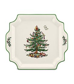 Spode® Christmas Tree Square Handled Platter
