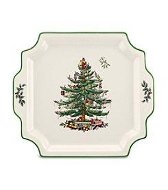 Spode® Christmas Tree Square Handled Platter