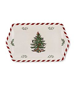 Spode® Christmas Tree Peppermint Border Dessert Tray