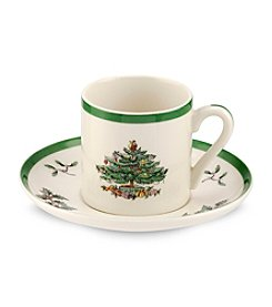 Spode® Christmas Tree Set of Four Espresso Cups And Saucers