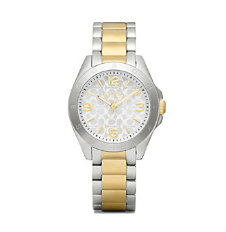 COACH WOMEN'S 32mm TRISTEN TWO-TONE MOTHER-OF-PEARL BRACELET WATCH