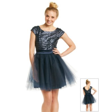 Trixxi® Juniors' Gold Sequin Party Dress 25