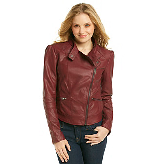 Jessica Simpson Trey Faux Leather Moto Jacket