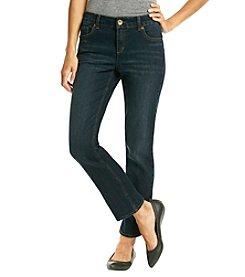 Ruff Hewn Petites' Straight Leg Denim Jean