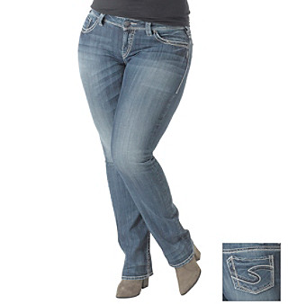 Silver Jeans Co. Plus Size Suki Straight Leg Jeans Women's