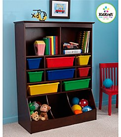 KidKraft Espresso Wall Storage Unit
