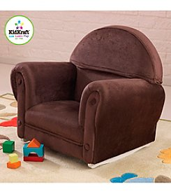 KidKraft Chocolate Upholstered Rocker with Slipcover