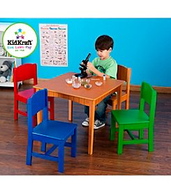 KidKraft Nantucket Table &  Primary Color Chair Set