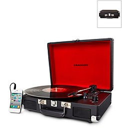 Crosley® Cruiser Black 3-Speed Portable Turntable with Built-in Speakers