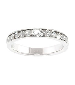 Athra Silver Plated Crystal Ring