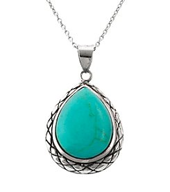 Athra Sterling SIlver Turquoise Pendant