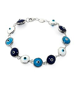 Athra Sterling Silver Guardian Eye Bracelet