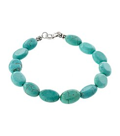 Athra Sterling Silver Turquoise Bracelet