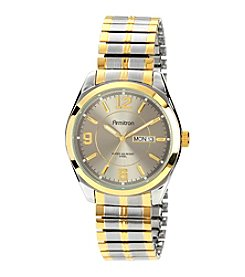 Armitron Men's Day/Date Function Dial Two-Tone Expansion Band Watch