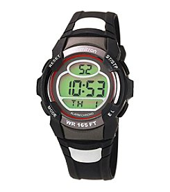 Armitron Men's Chronograph Round Red and Black Digital Sport Watch
