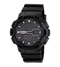 Armitron Men's Digital Chronograph Black Resin Strap Sport Watch
