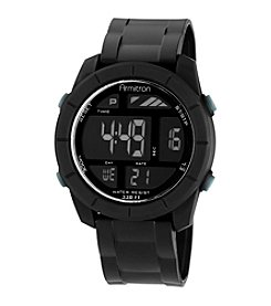 Armitron Men's Digital Chronograph Black Rubberized Resin Strap Sport Watch