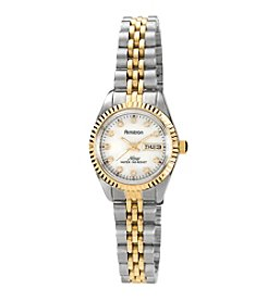Armitron Women's Two-Tone Mother of Pearl Dress Watch