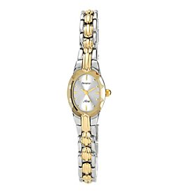Armitron Women's Oval Facetted Crystal Two-Tone Bracelet Watch