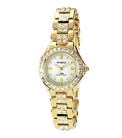 Armitron Women's Swarovski Crystal Accented Goldtone Bracelet Watch