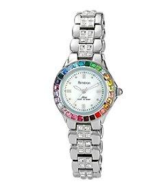 Armitron Women's Crystal Accented Silvertone Bracelet Watch