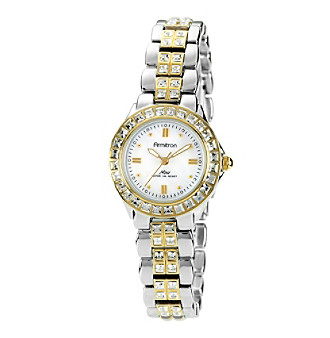 Armitron Women's NOW Crystal Accented Two-Tone Dress Watch