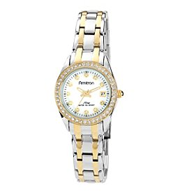 Armitron Women's Crystal Accented Two-tone Bracelet Watch