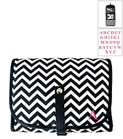 Cathy's Concepts Personalized Black Chevron Hanging Cosmetic Bag
